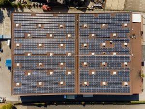 bird view solar panels